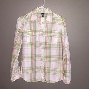 Patagonia button down plaid size 0 shirt